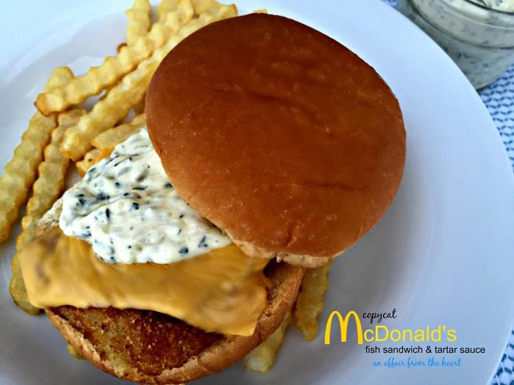 Copycat McDonald's Fish Sandwich and Tartar Sauce