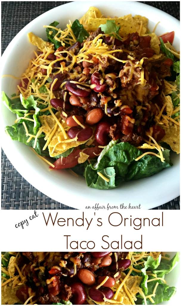 Copy Cat Wendy's Original Taco Salad An Affair from the Heart