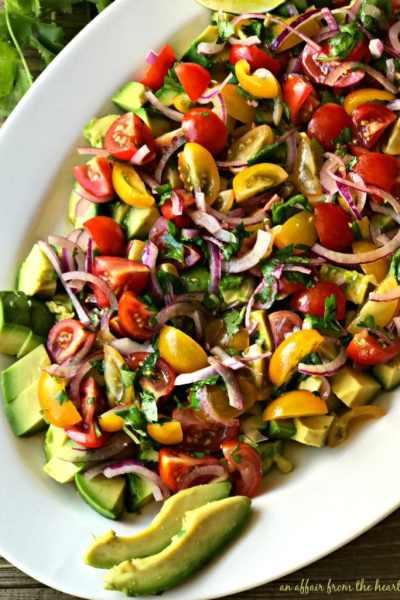 Deconstructed Guacamole Salad