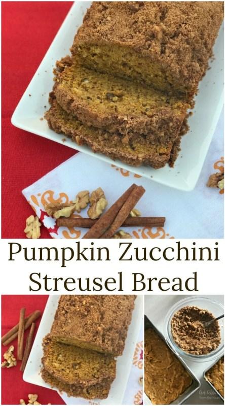 Pumpkin Zucchini Streusel Bread - An Affair from the Heart