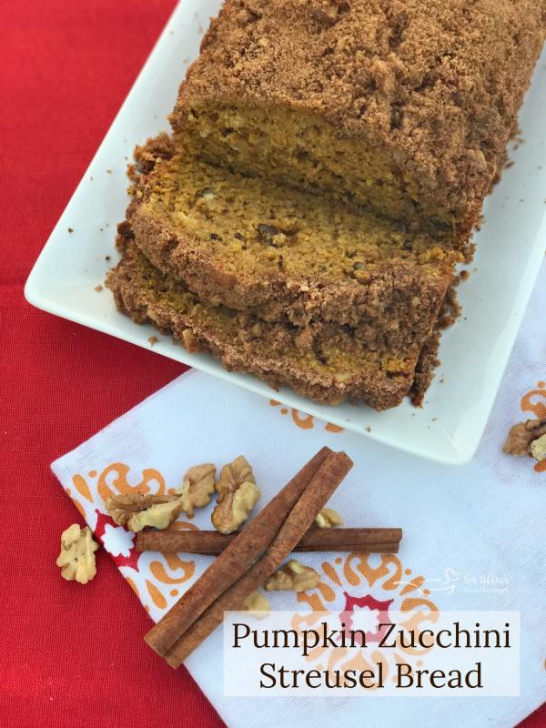 Pumpkin Zucchini Streusel Bread