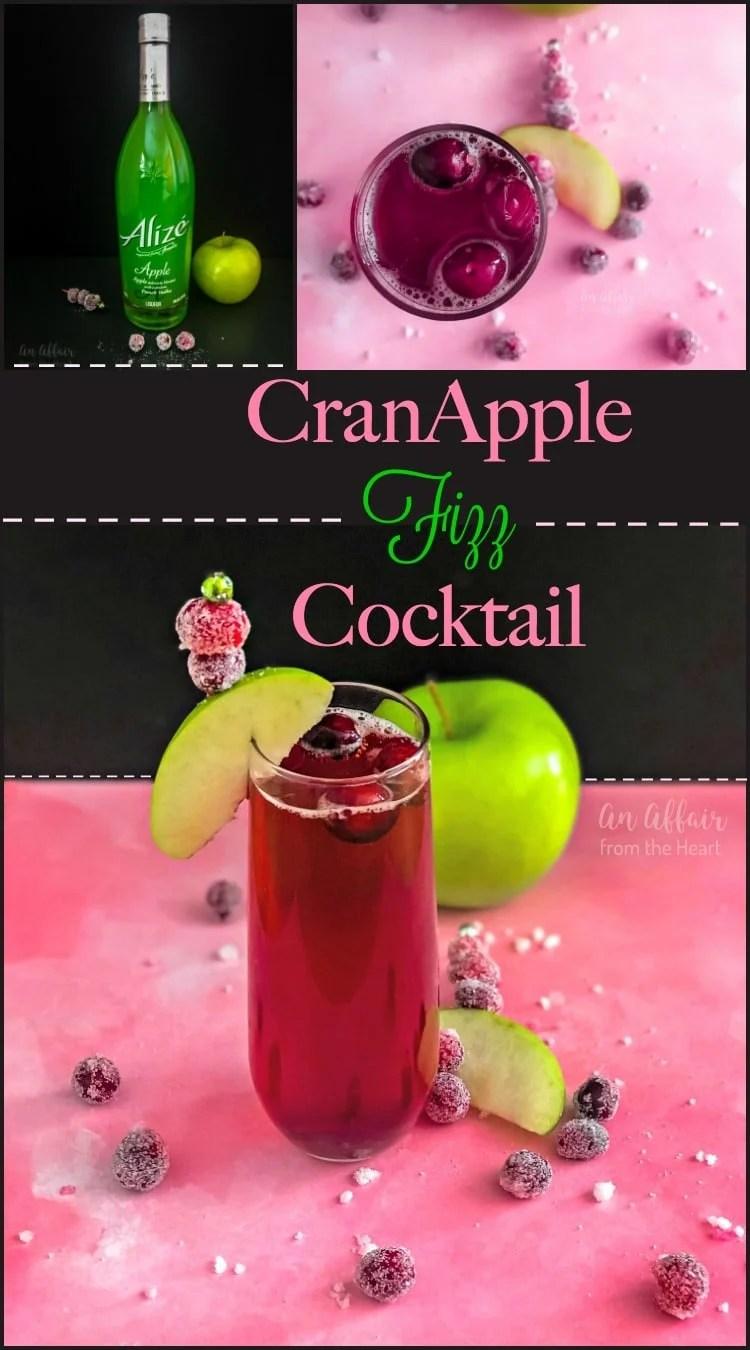 CranApple Fizz Cocktail - An Affair from the Heart