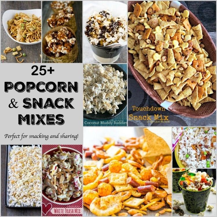 25+ Popcorn & Snack Mixes