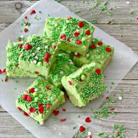 Grinch Fudge #ChristmaSweetsWeek