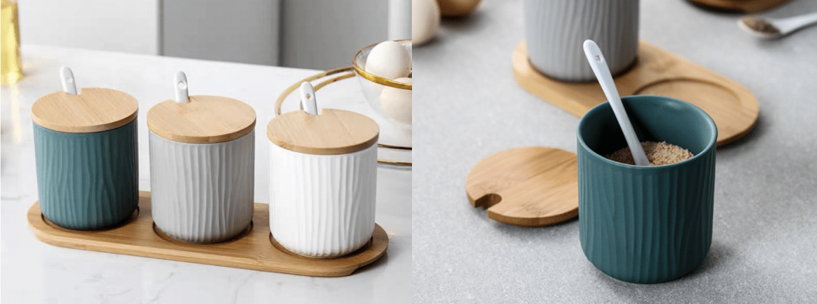 Mint Home_Tricolour Spice Storage Canister
