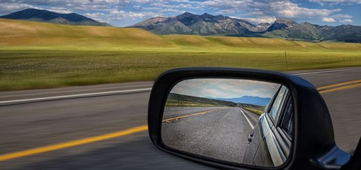 Looking back through rear view mirror to look forward - Retrospective techniques
