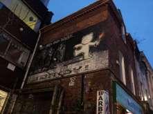 Bristol, famous graffiti by Banksy