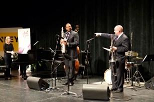 Jimmy Greene and Friends; Jimmy and Steve Davis, trombone