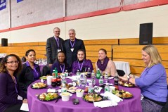 Scholarship Sponsor, Dan Siracusa, with friends at the luncheon