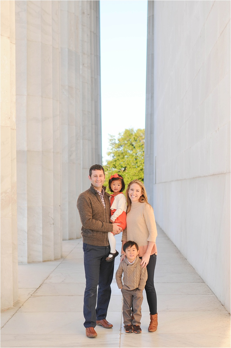 Lincoln Memorial Family Portrait