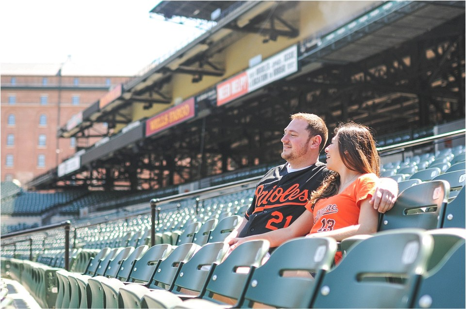 Baltimore Engagement at Camden Yards and Rawlings Conservatory | Ana Isabel Photography