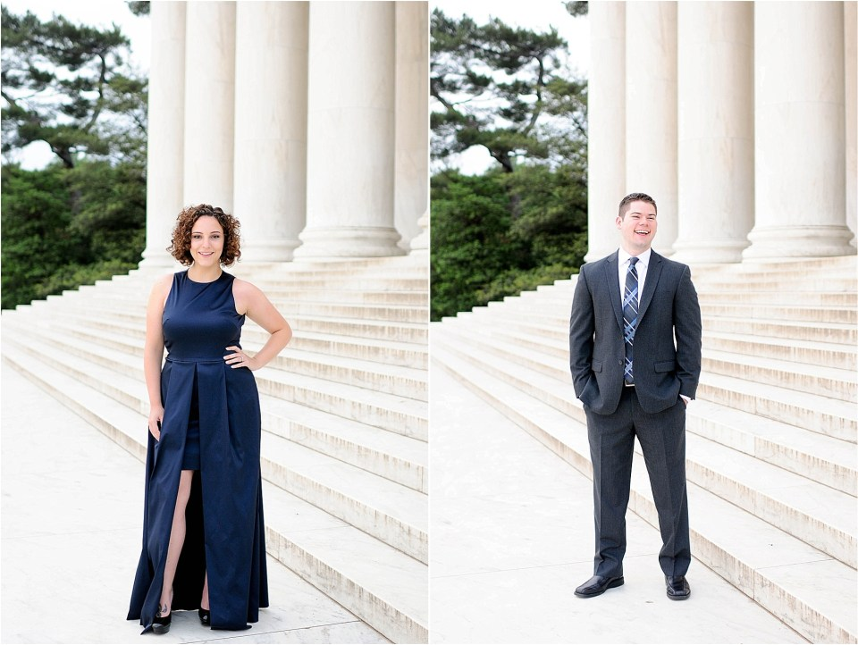 Classic Washington DC engagement session at the Jefferson Memorial21
