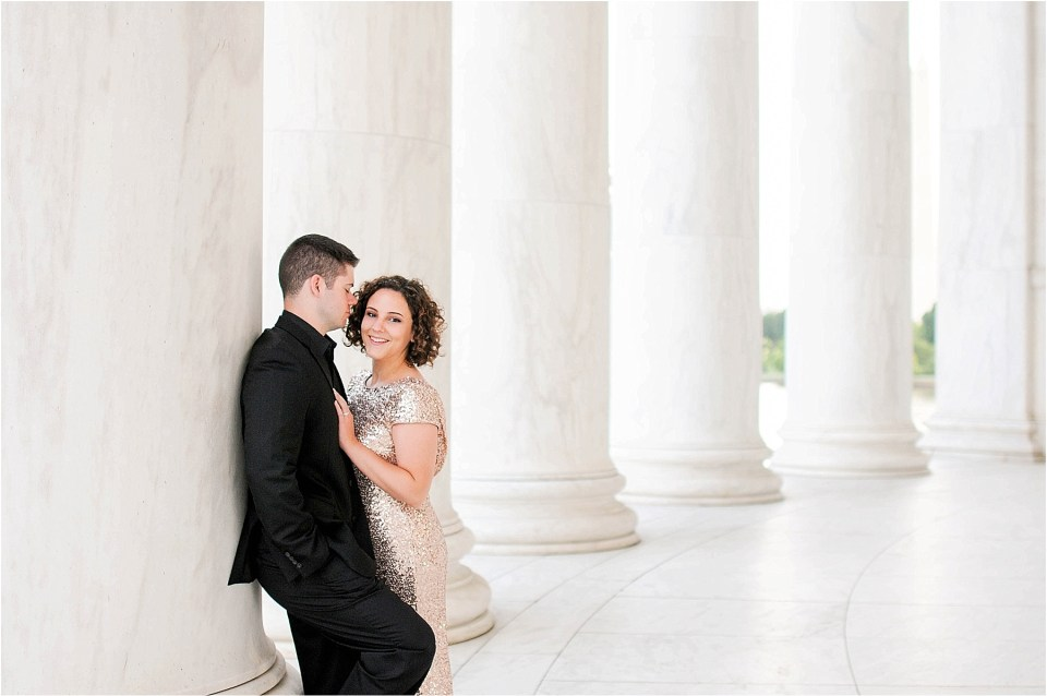 Classic Washington DC engagement session at the Jefferson Memorial40