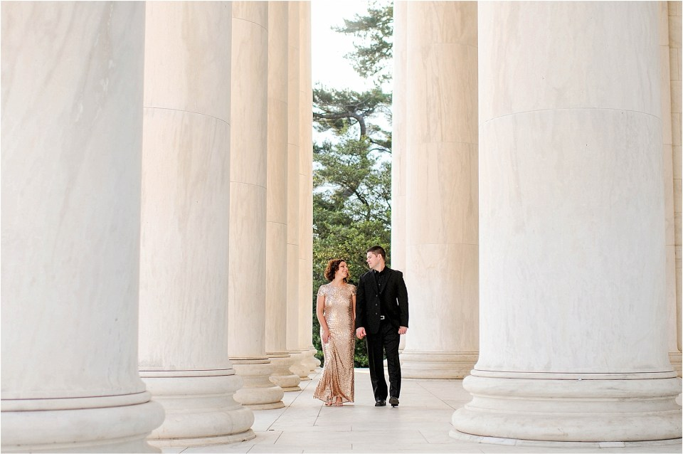 Classic Washington DC engagement session at the Jefferson Memorial53