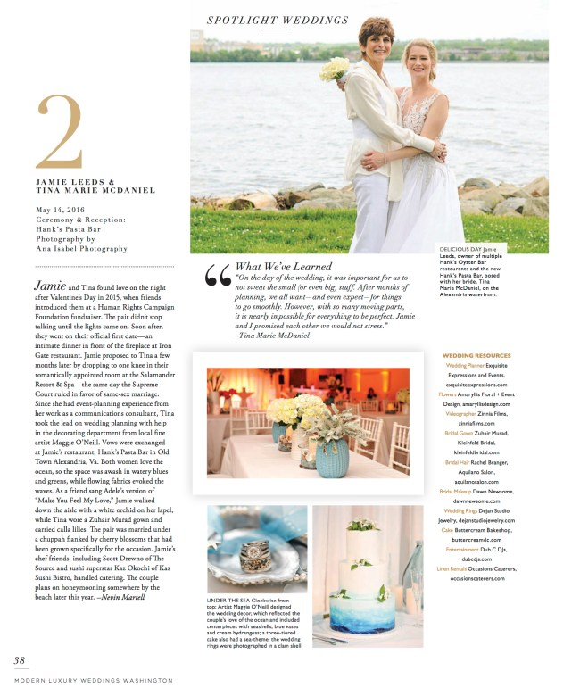Modern Luxury Weddings feature photographed by Ana Isabel Photography