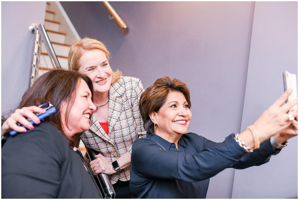 Janet Murgia from Unidos US, Congresswoman Sylvia Garcia, Ingrid Duran