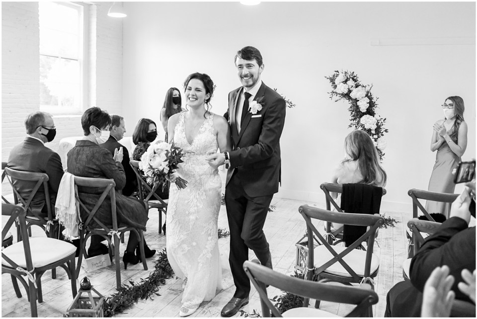 Wedding ceremony at Annapolis MD LightBox Studio