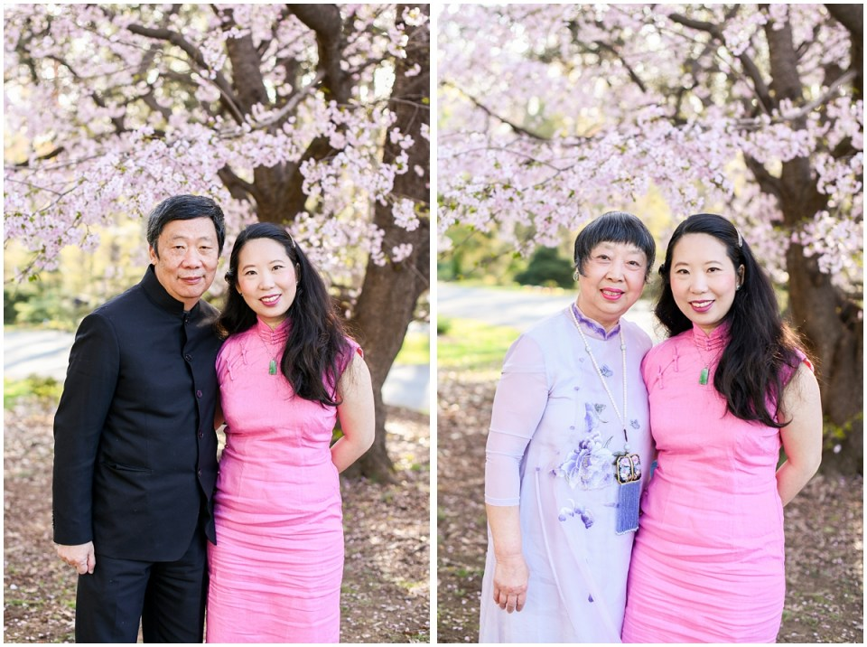 Chinese family portrait with traditional attire