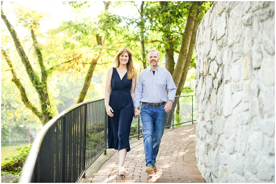 Family photos in historic Occoquan