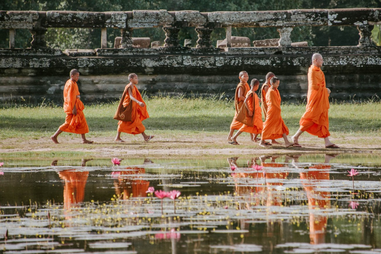 Young monks at Angkor Wat Cambodia