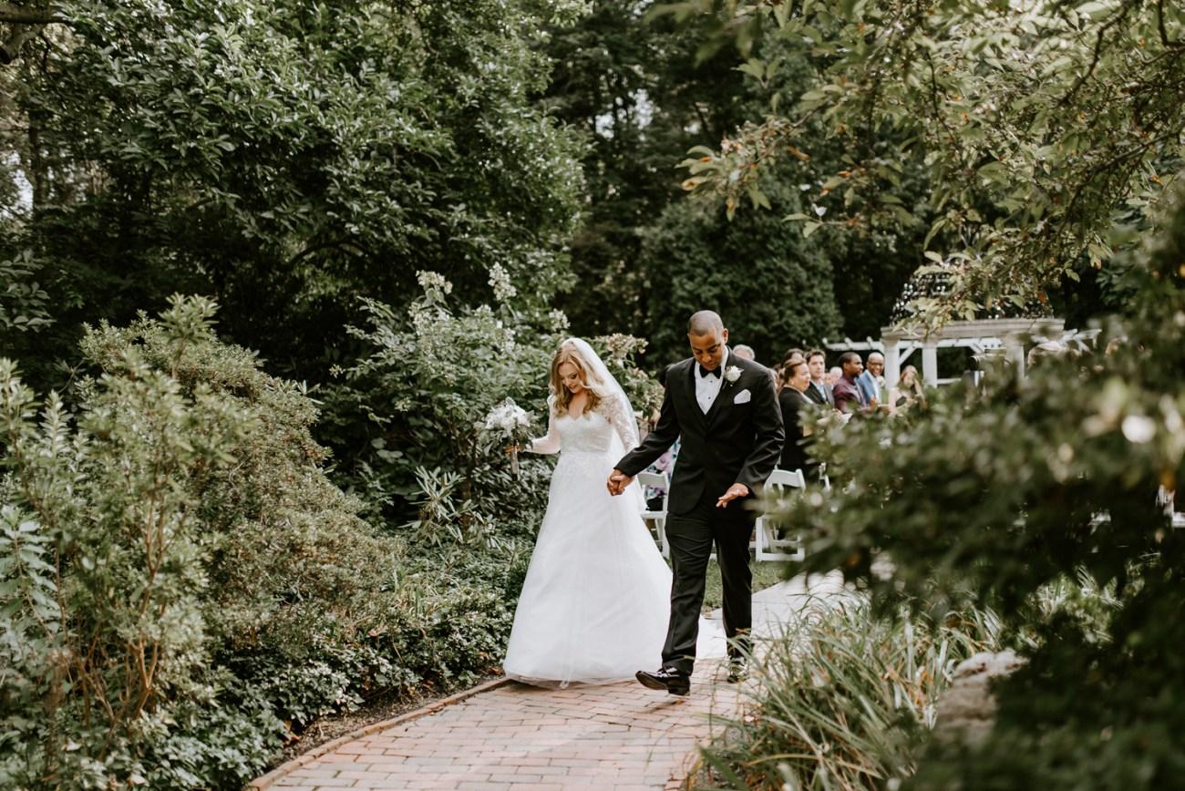 Sayen House and Gardens Wedding Ceremony in Hamilton New Jersey. Anais Possamai Photography