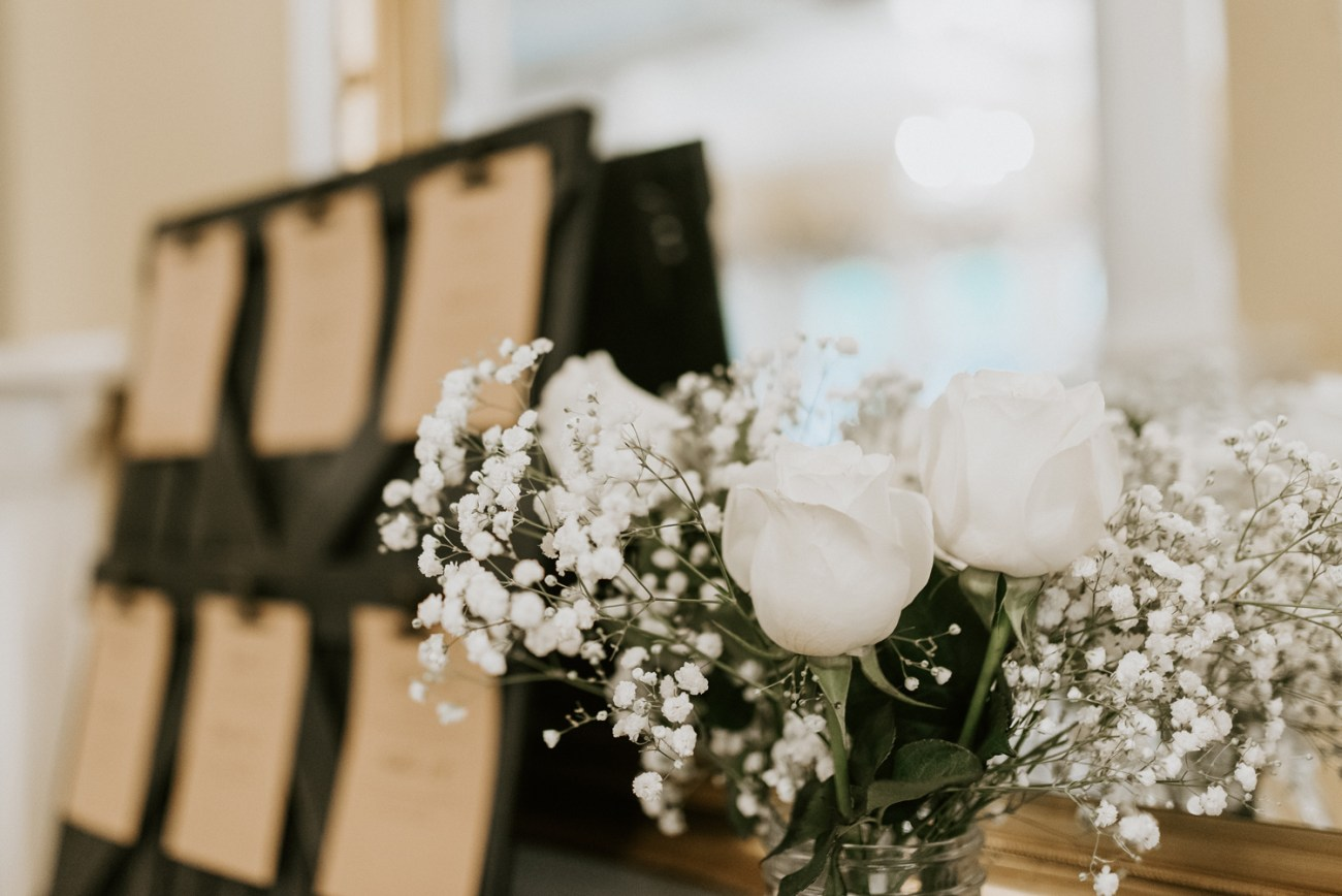 wedding seating chart featuring rustic decoration