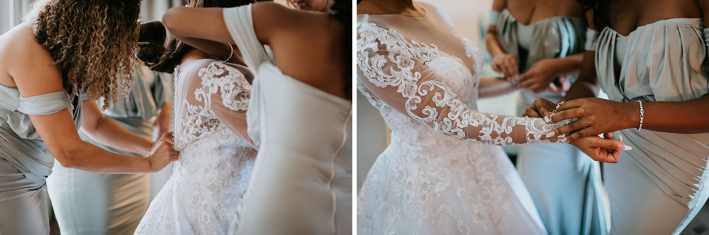 Bride getting ready at the Renaissance Hotel in Allentown, PA Anais Possamai Photography