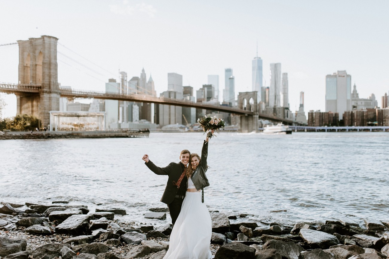Brooklyn Elopement_Brooklyn Bridge, NYC Elopement, New York Weddings, New York Wedding Photographer