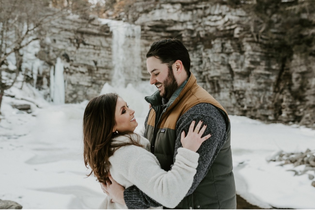 22 Minnewaska State Park Minnewaska Engagement Session Winter Engagement Adventurous Engagement