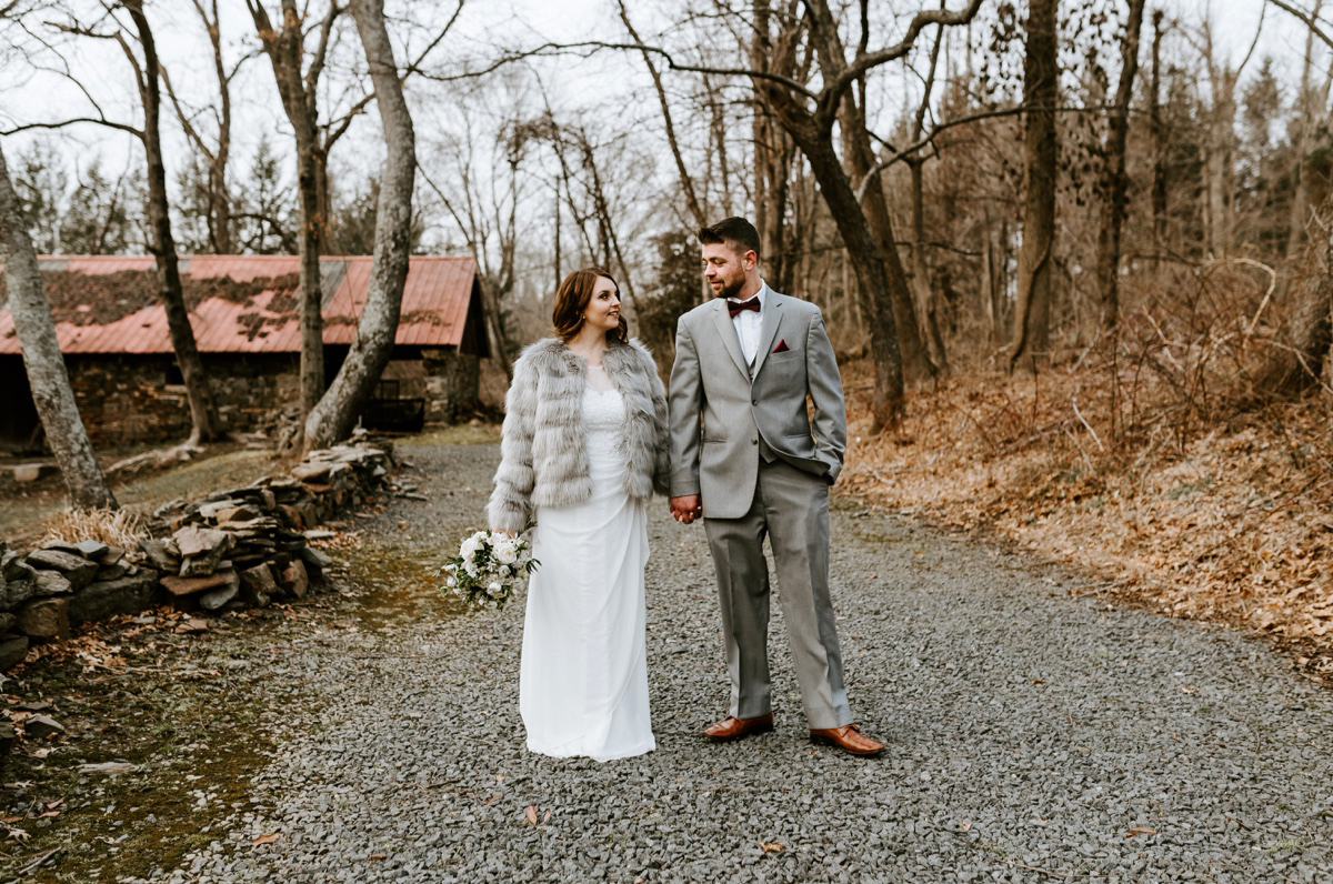 45 The Inn At Glencairn Destination Wedding Photographer Winter Elopement New Jersey Wedding Photographer Intimate Wedding