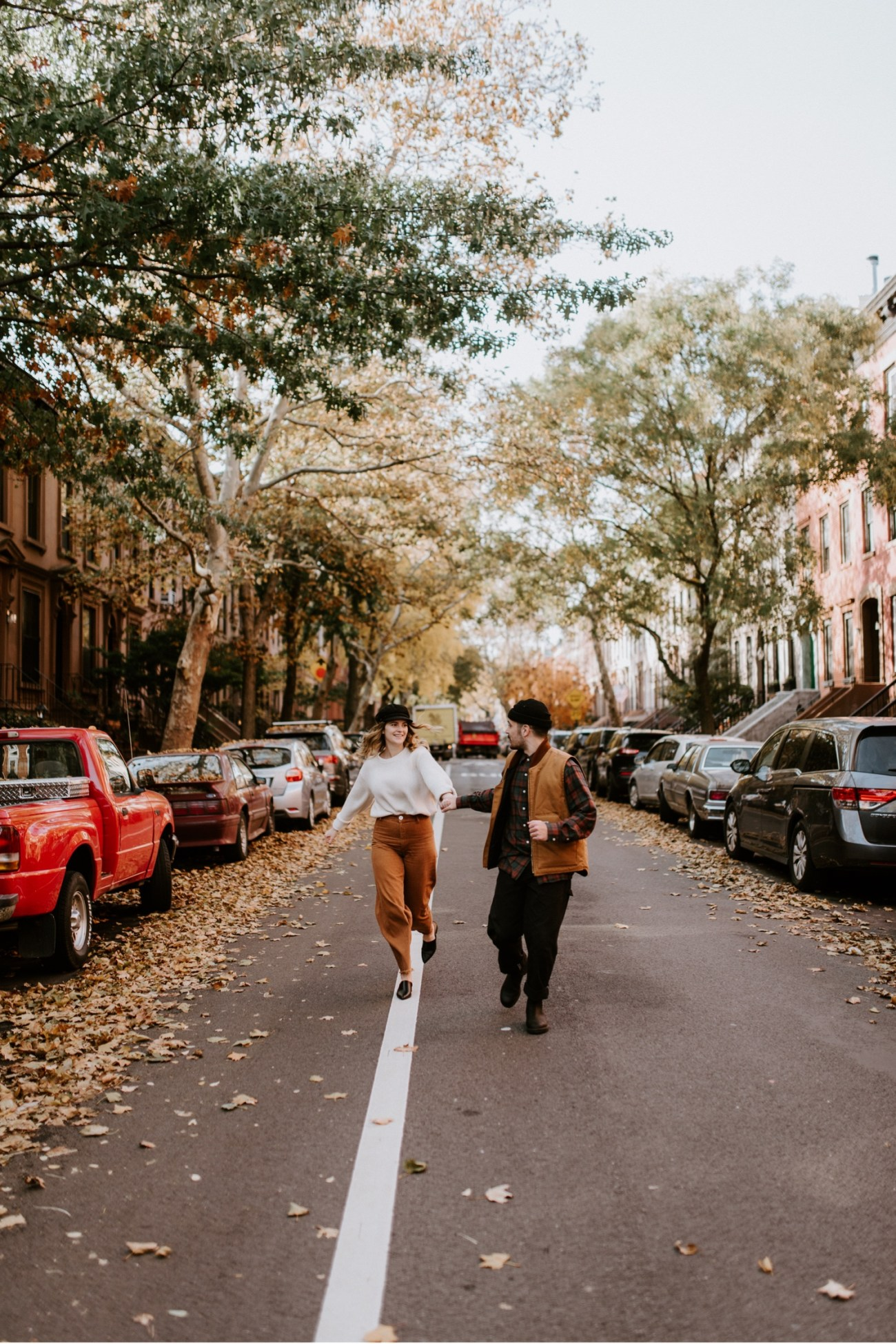 05 Brooklyn Wedding Photographer Brooklyn Engagement Session 501 Union Brooklyn Fall Engagement Session