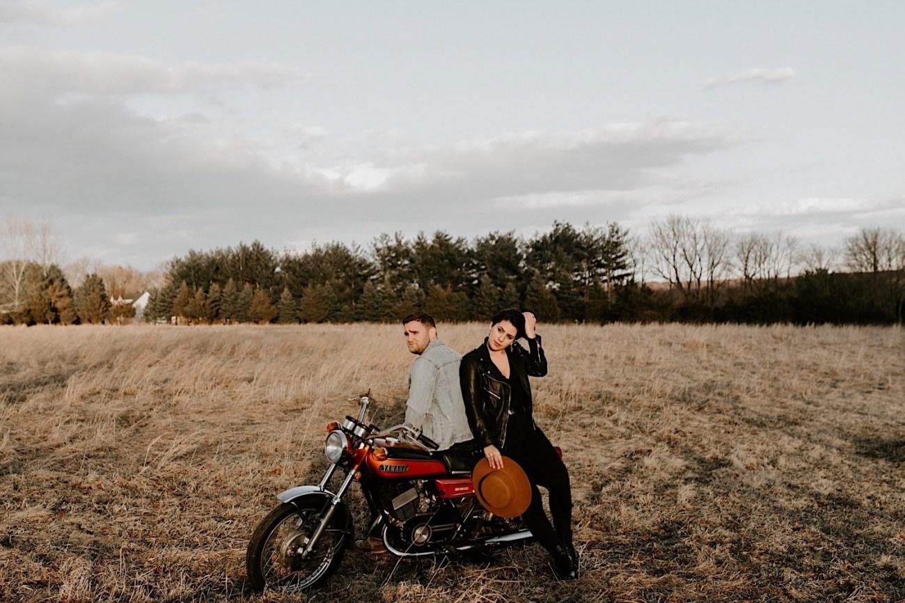 Motorcycle Ecouple Session Winter Couple Session NJ Wedding Photographer 2446