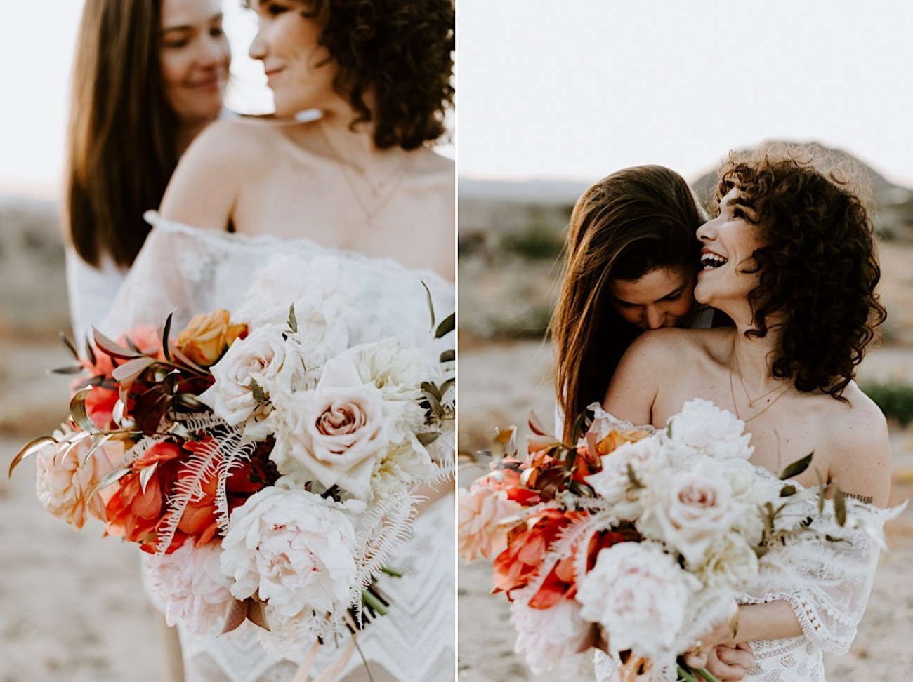 Joshua Tree Same Sex Wedding Joshua Tree Wedding Photographer Palm Springs Wedding Photographer 43