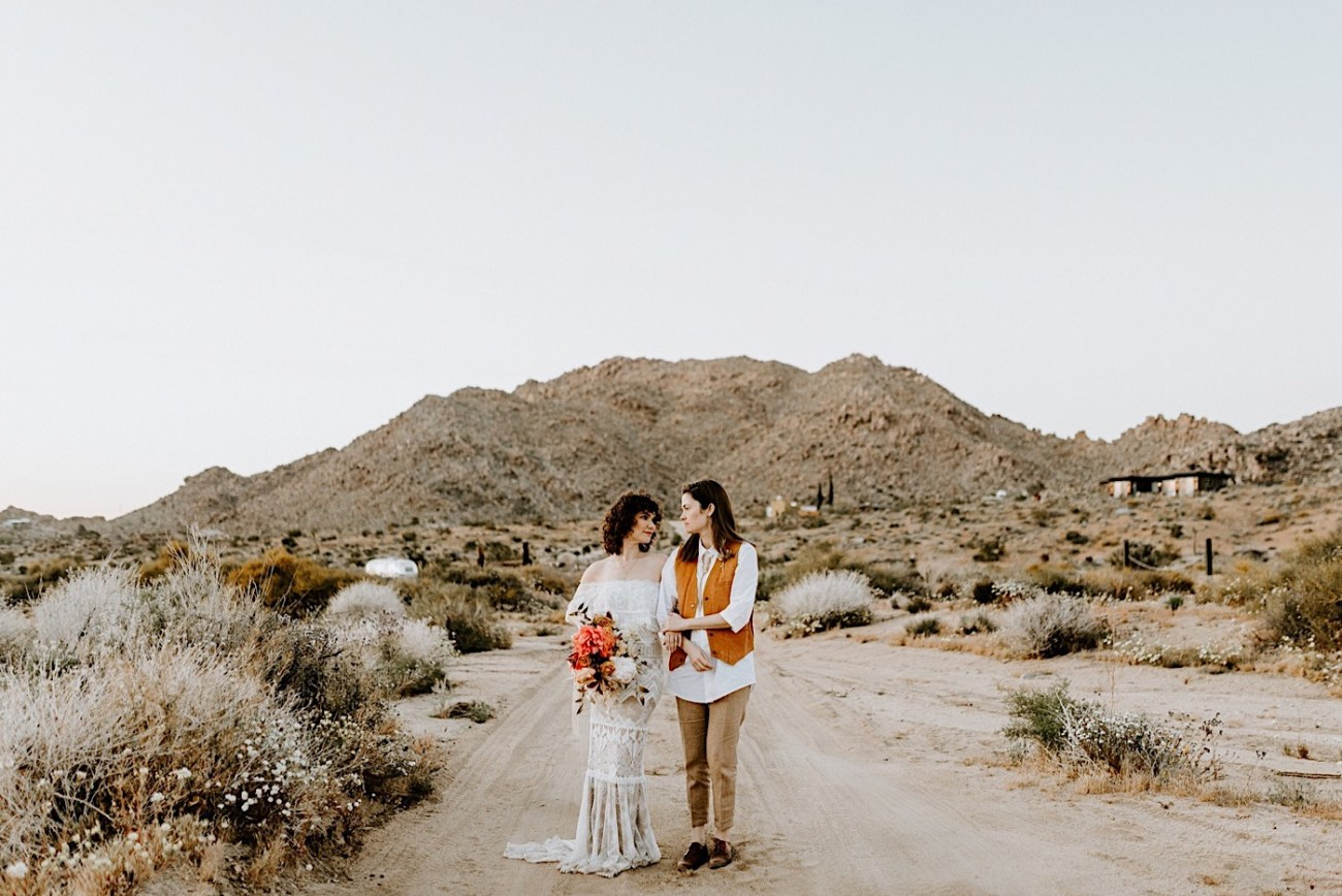 Joshua Tree Same Sex Wedding Joshua Tree Wedding Photographer Palm Springs Wedding Photographer 51
