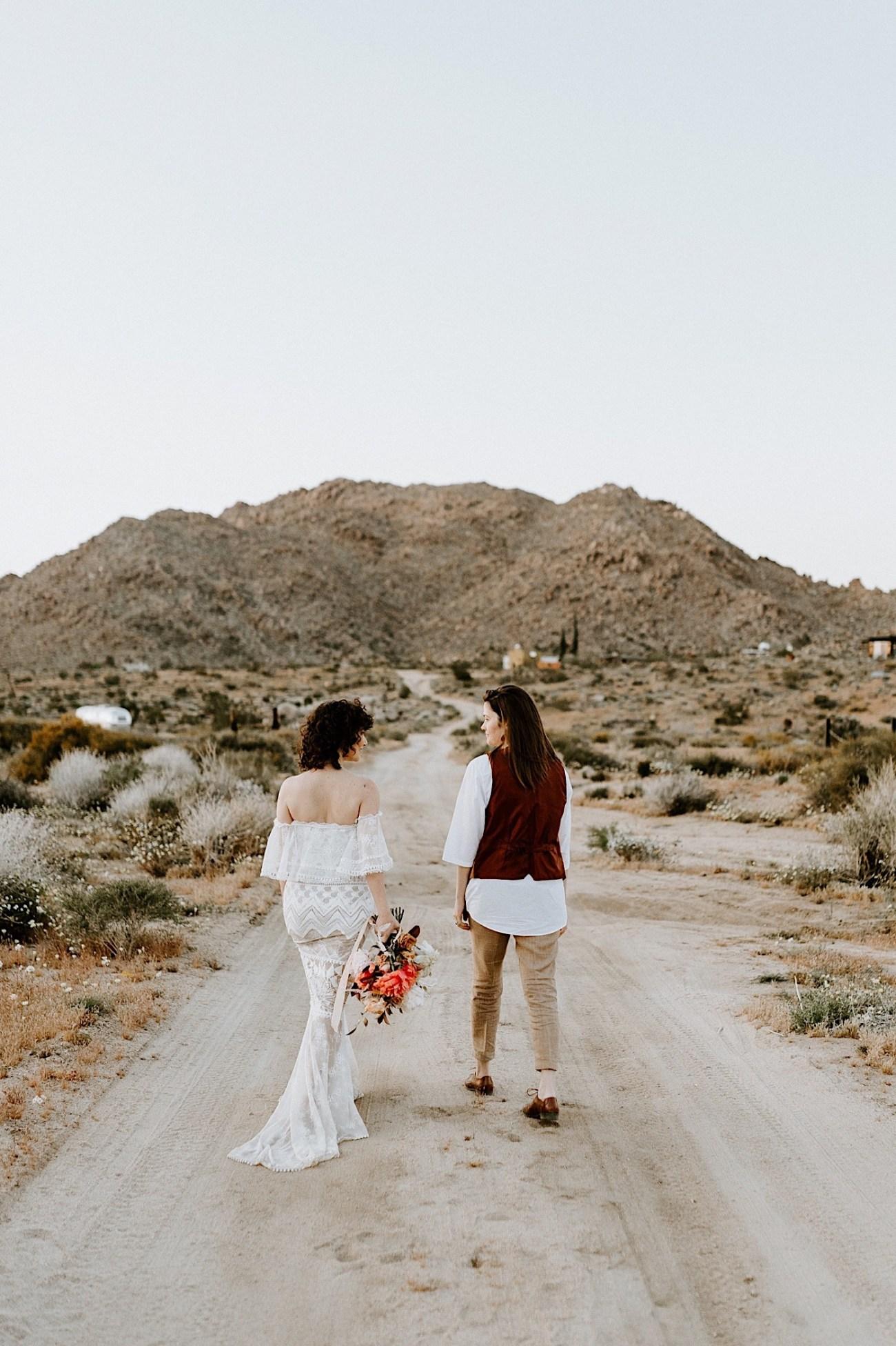 Joshua Tree Same Sex Wedding Joshua Tree Wedding Photographer Palm Springs Wedding Photographer 58