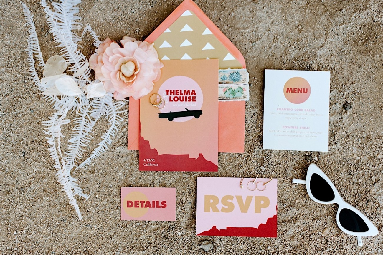 Wedding invitation inspiration, Elopement invitation and save the dates for a Joshua Tree Elopement
