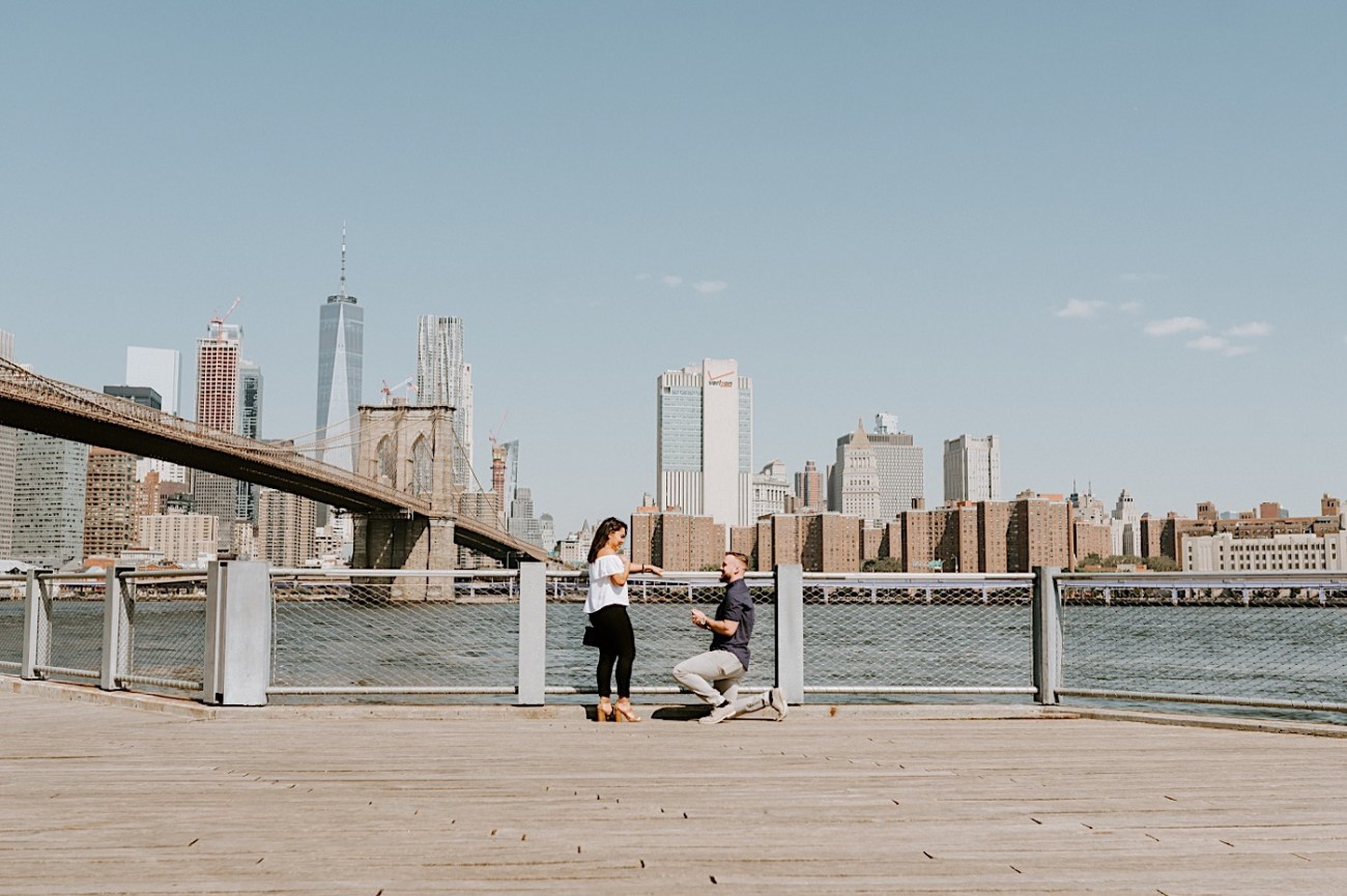 Dumbo Brooklyn Proposal Brooklyn Engagement Photos Brooklyn Wedding Photographer 001