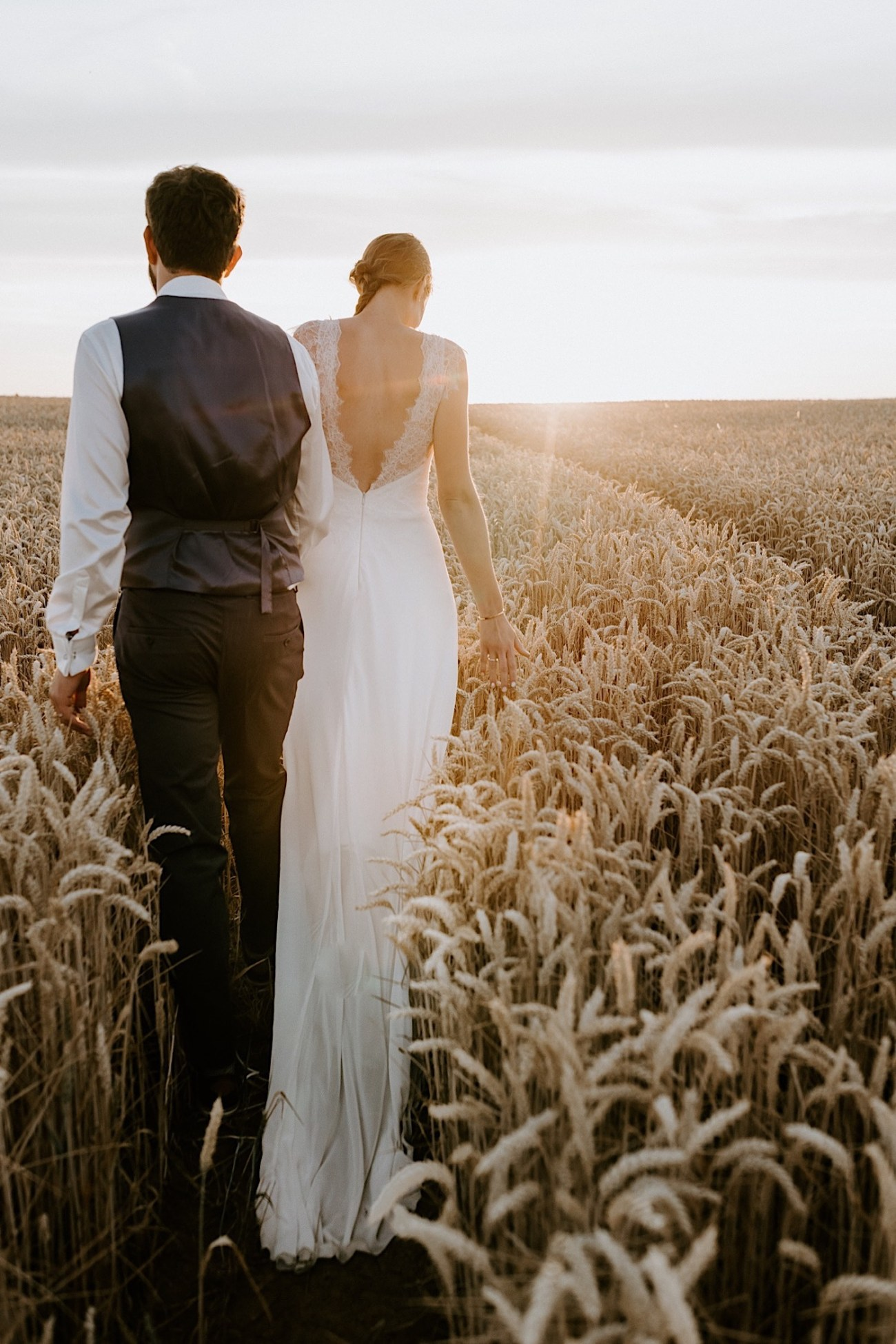 France Wedding Wheat Field Wedding Photos Paris Wedding Photographer 037
