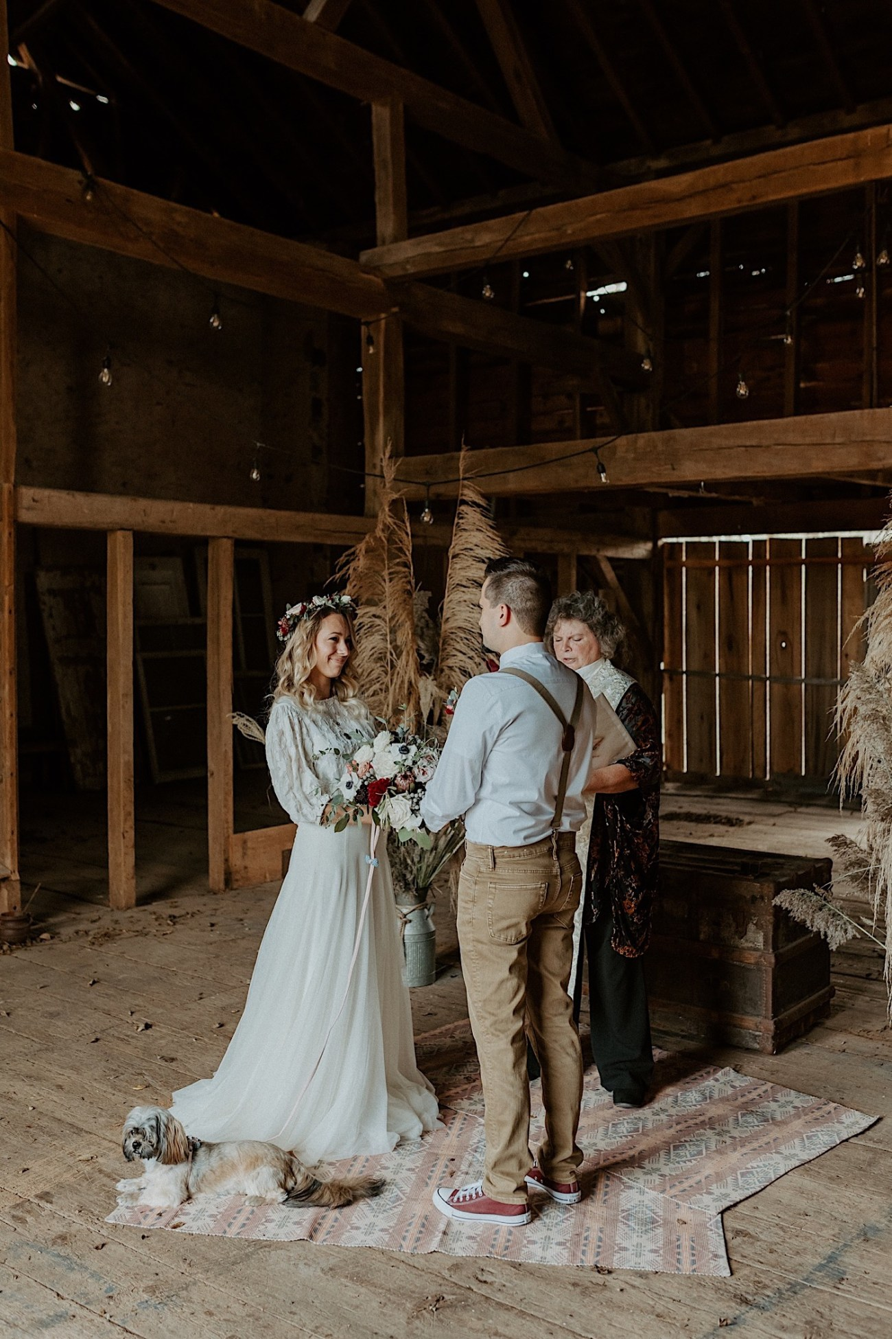 Barn Wedding New Jersey Wedding Boho Bride NJ Wedding Photographer 005