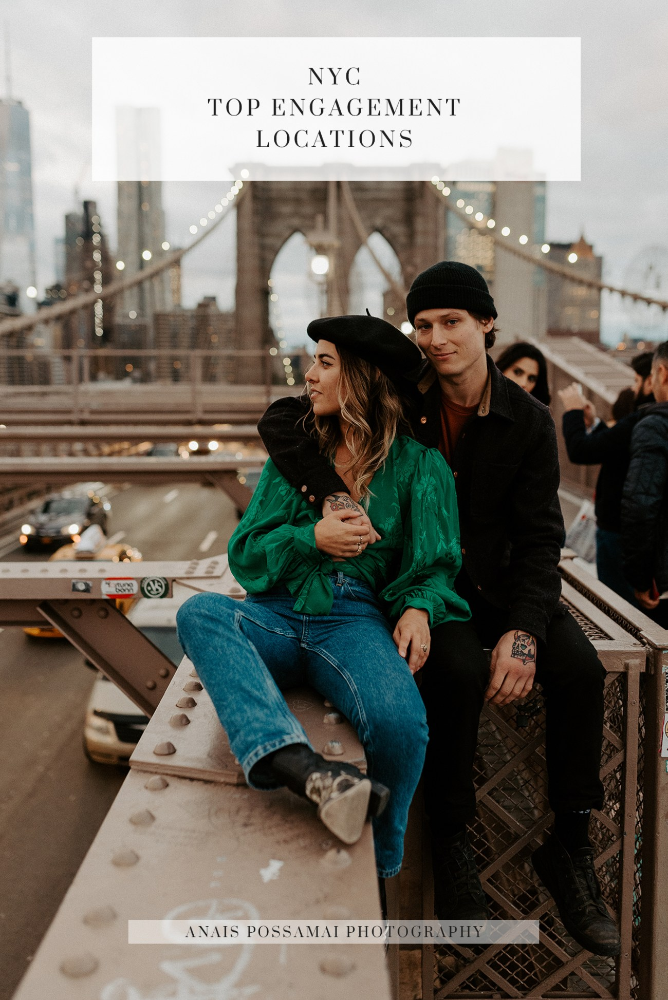 NYC Top Engagement Locations Brooklyn Bridge Engagement Session