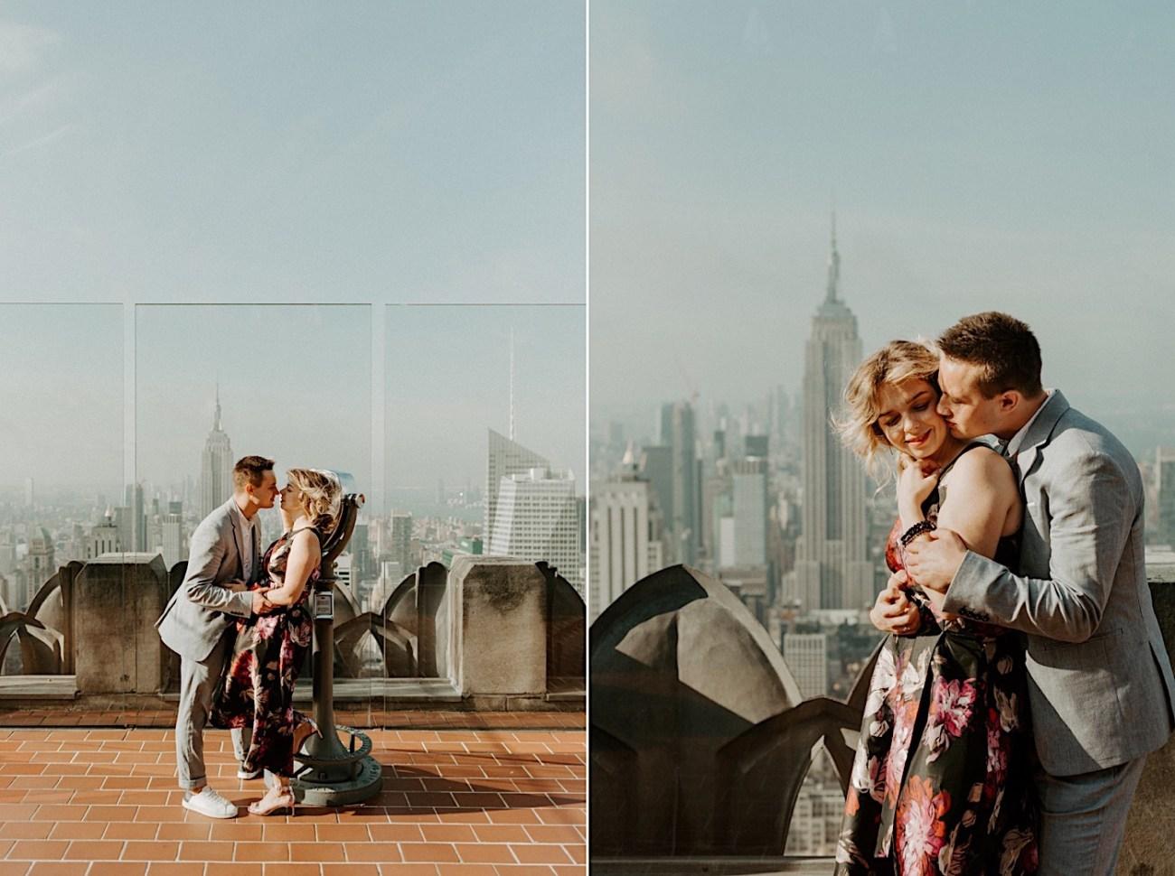 Top Of The Rock Wedding Anniversary NYC Engagement Locations New York Wedding Photographer 32