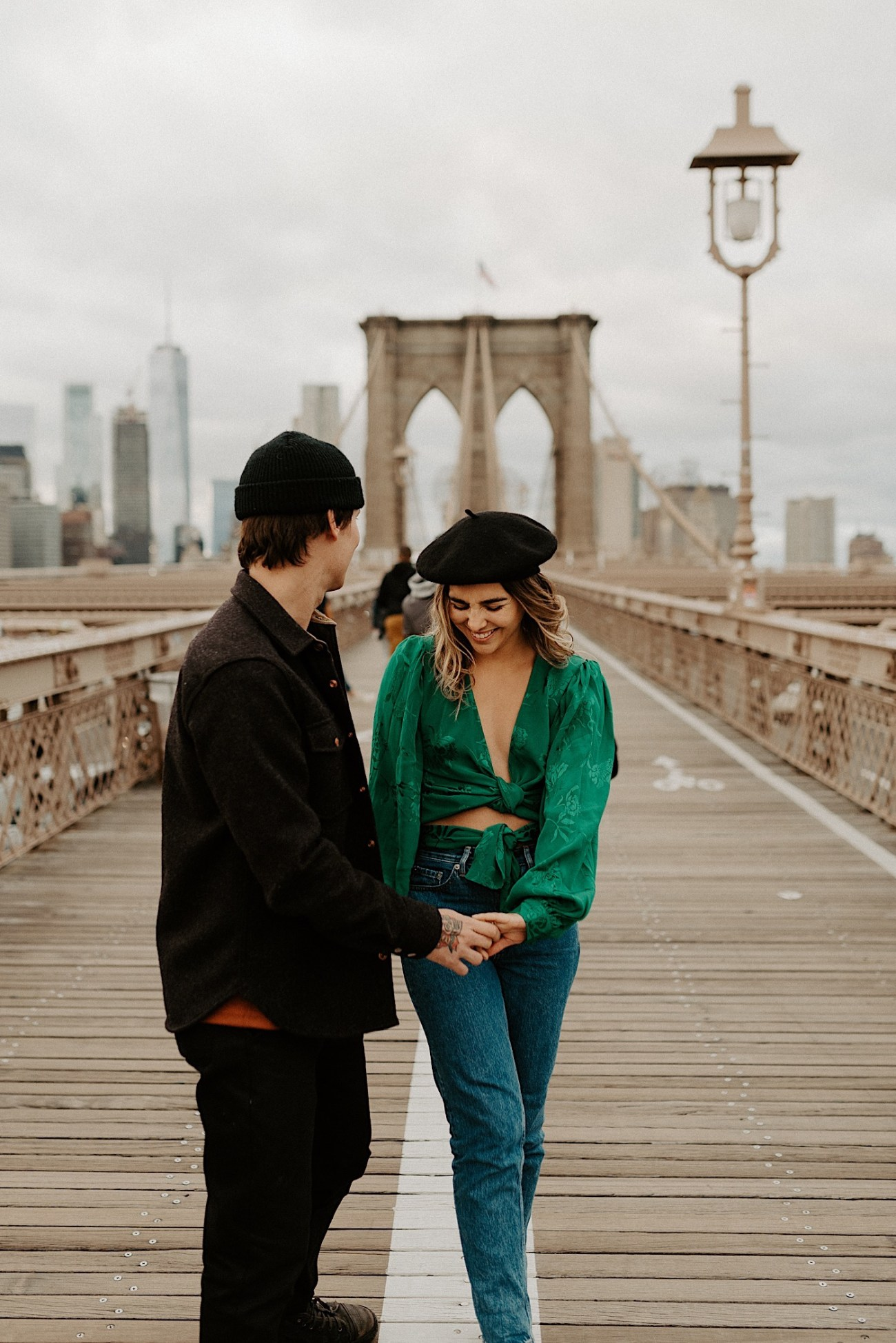 Brooklyn Bridge Engagement Photos Brooklyn Engagement Session 004
