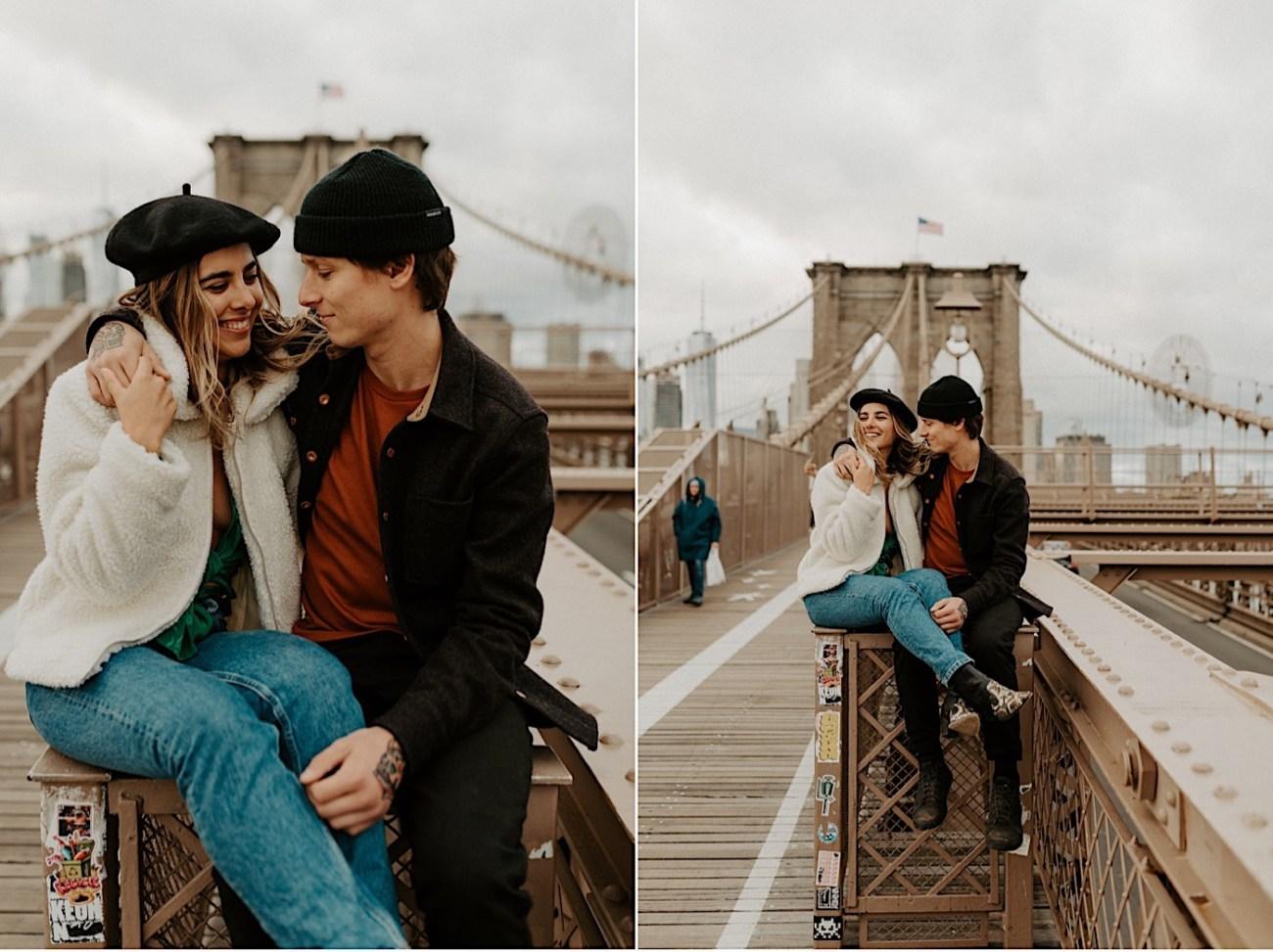 Brooklyn Bridge Engagement Photos Brooklyn Engagement Session 008