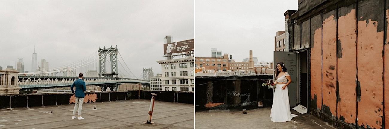 Brooklyn Elopement NYC Rooftop Wedding New York Wedding Photographer 015