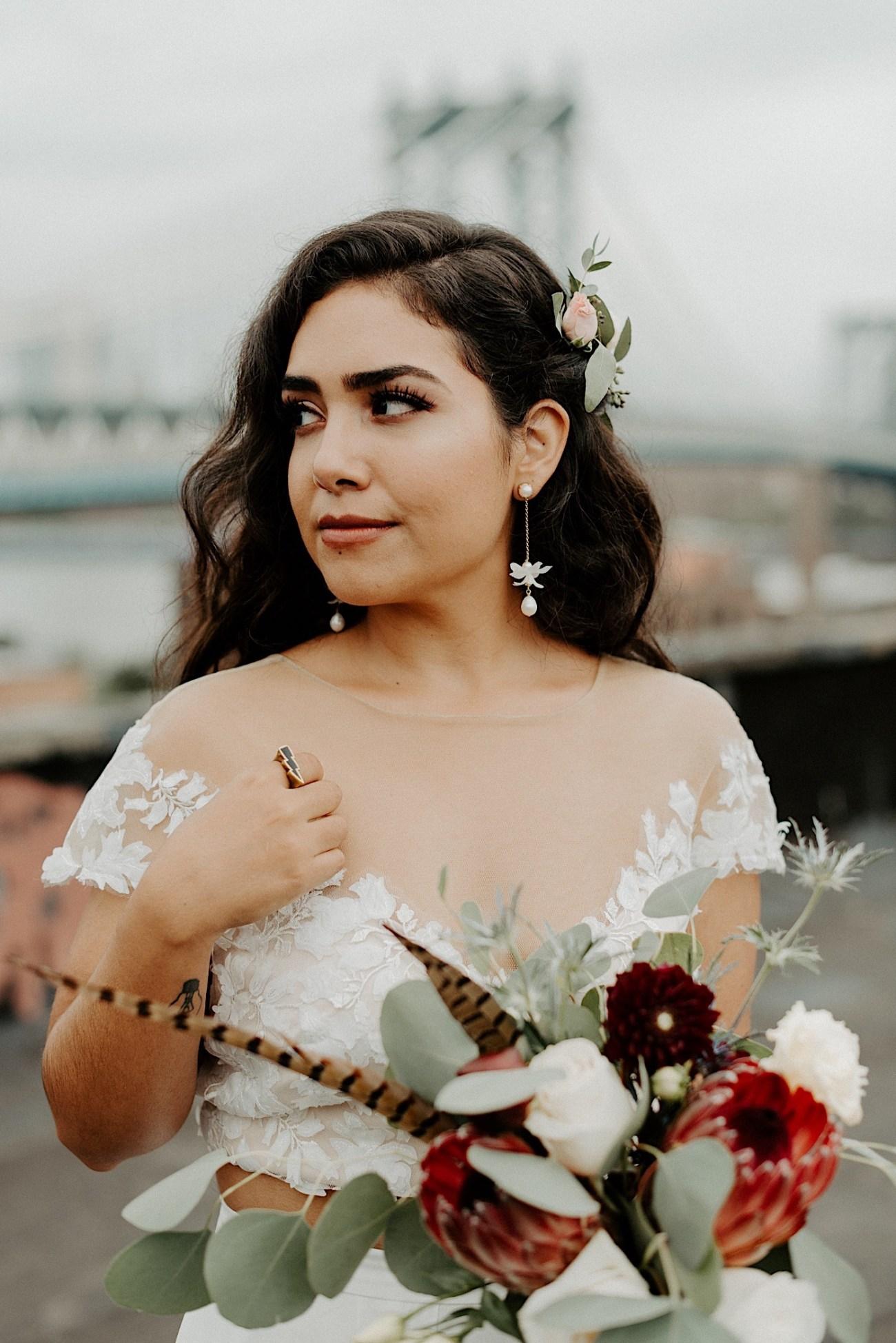 Brooklyn Elopement NYC Rooftop Wedding New York Wedding Photographer 039