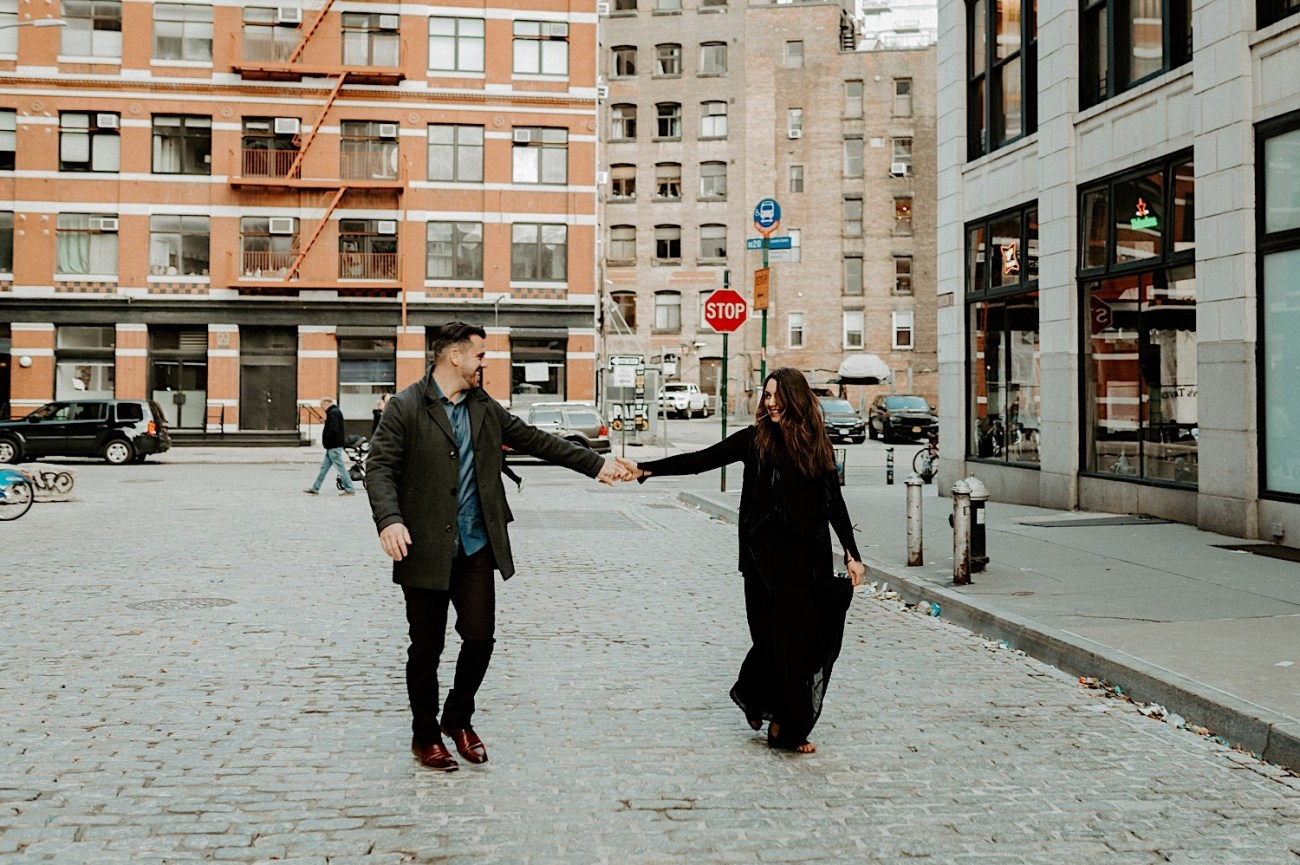 Tribeca Engagement Session NYC Engagement Photos New York Wedding Photographer 08