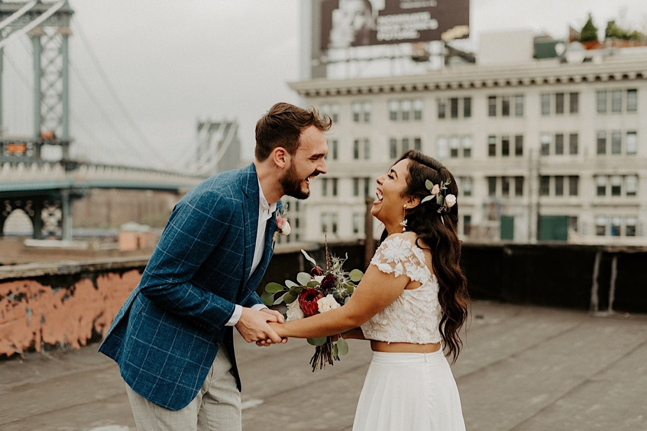 003 Brooklyn Rooftop Wedding New York Wedding Photographer Brooklyn Dumbo Elopement