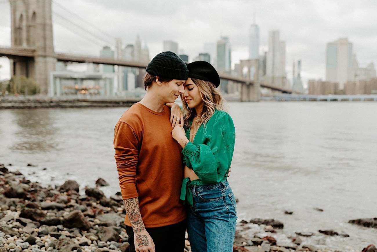 048 Brooklyn Bridge Engagement Photos Brooklyn Engagement Session NYC Wedding Photographer