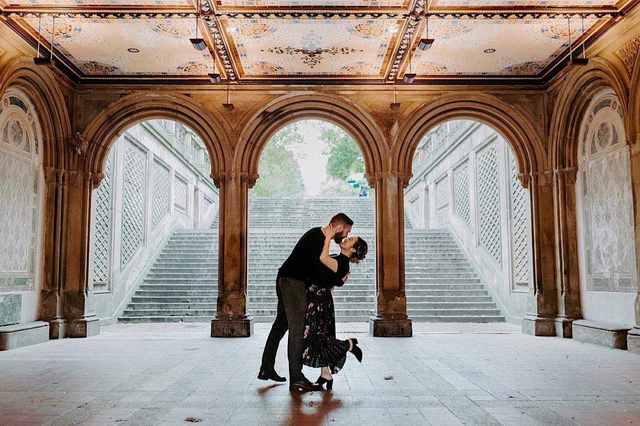 058 Central Park Enagement Photos Bethesda Terrace Engagement Photos New York Wedding Photographer