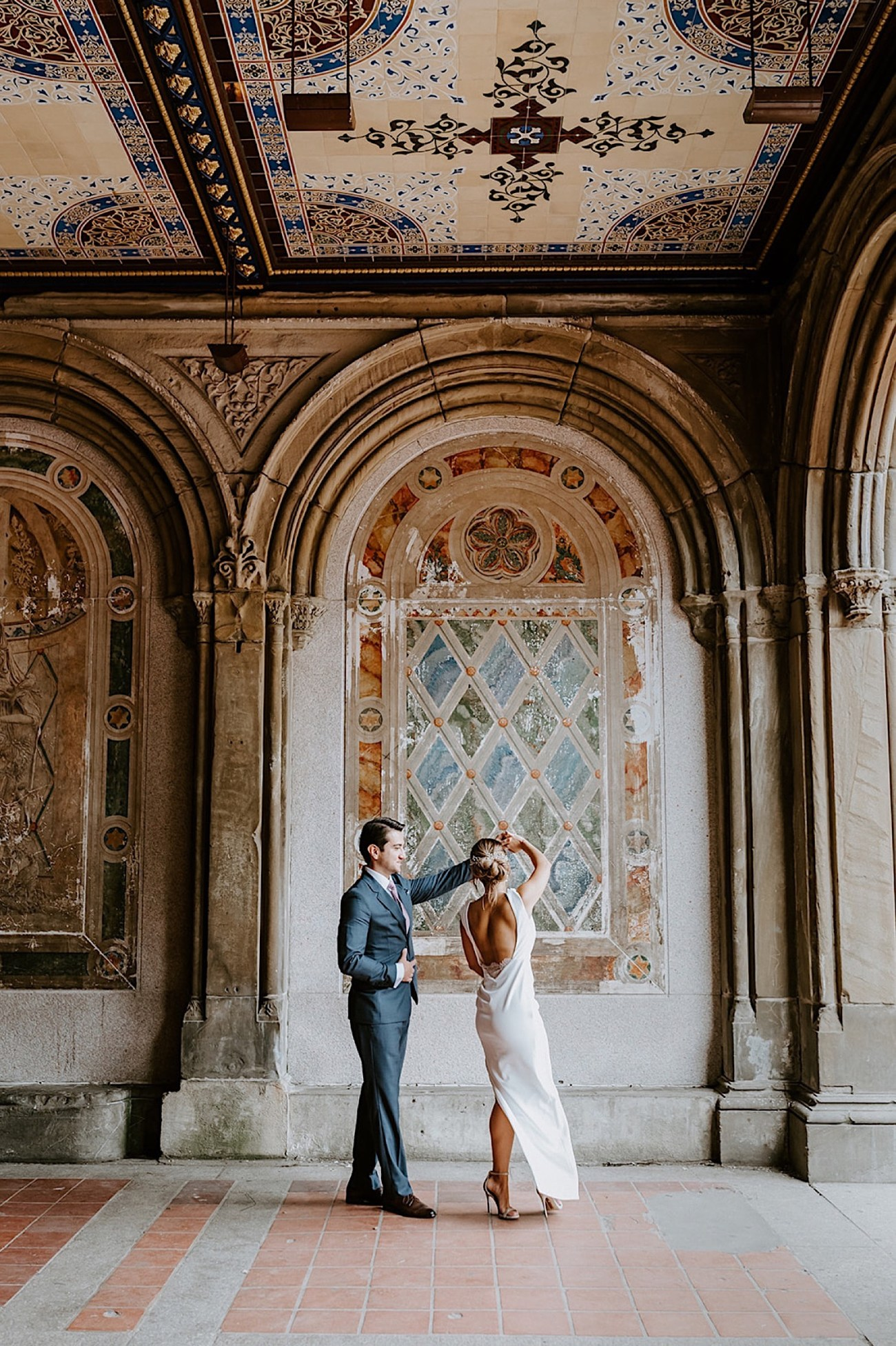 088 Central Park Elopement Bethesda Fountain Wedding Photos New York Wedding Photographer Central Park Wedding Photos